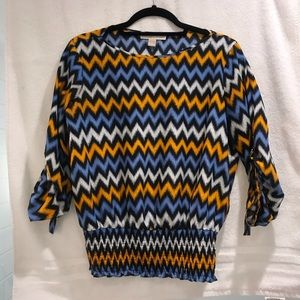 Michael Kors striped top with 3/4 sleeve size M